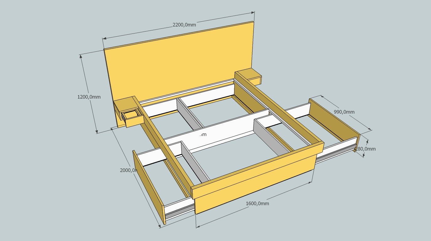 Living - Queen Size Bed with Storage Drawers (Read 15586 times